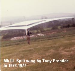 Tony Prentice diverged from the STANDARD ROGALLOS as did very many other designers to get safer and higher performing and just more fun hang gliders.
